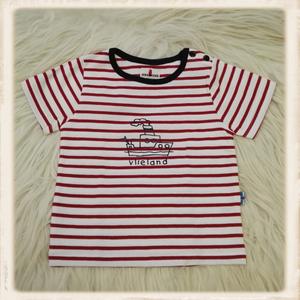 Rood T-shirt met stoomboot
