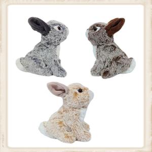 Zittende pluche konijntjes in 3 kleuren
