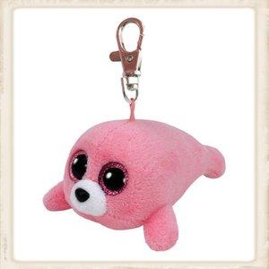 Ty Beanie Boo clip Pierre roze zeehond