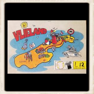 Kleurige Vlieland print