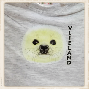 Print met zeehondenhoofdje