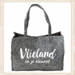 """""""Vlieland in je element"""" vilten tas"""