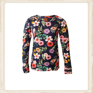 Longsleeve Happy Dark Blue Flower